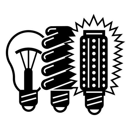 Generation bulb progress icon, simple style Иллюстрация