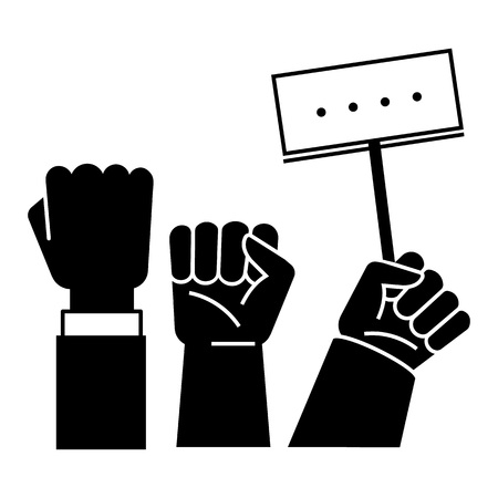 Fist up demonstration icon. Simple illustration of fist up demonstration vector icon for web design isolated on white background
