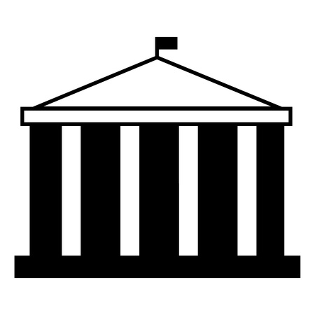 Parliament building icon. Simple illustration of parliament building vector icon for web design isolated on white background