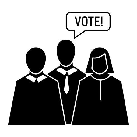 Vote oratory icon, simple style
