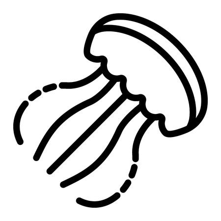 Icône de méduses. Contours illustration de l'icône vecteur méduses pour la conception web isolé sur fond blanc