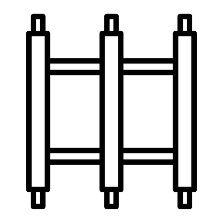 Scaffold construction icon. Outline illustration of scaffold construction vector icon for web design isolated on white background Иллюстрация