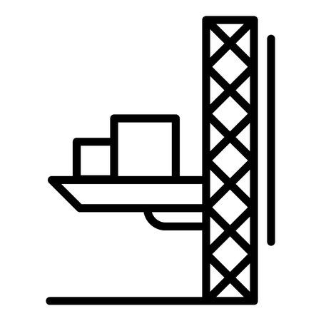 Lift crane platform icon. Outline illustration of lift crane platform vector icon for web design isolated on white background