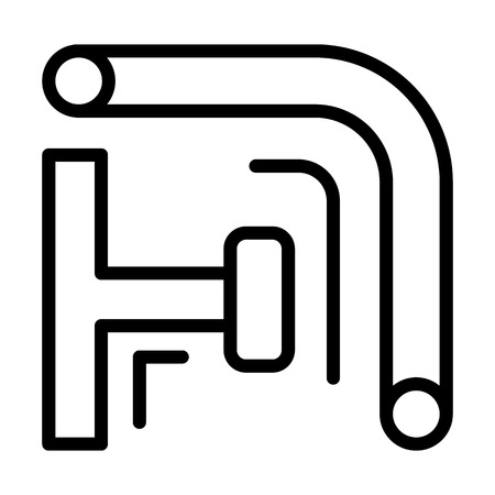 Scaffold pipe icon. Outline illustration of scaffold pipe vector icon for web design isolated on white background