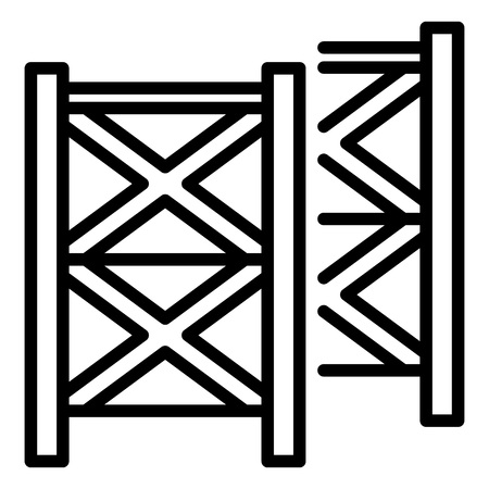 Scaffolding equipment icon. Outline illustration of scaffolding equipment vector icon for web design isolated on white background Иллюстрация