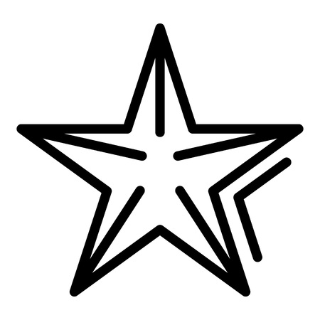 Sea star icon, outline style