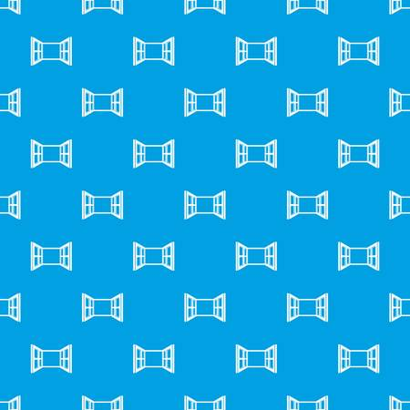 Open window frame pattern vector seamless blue repeat for any use  イラスト・ベクター素材
