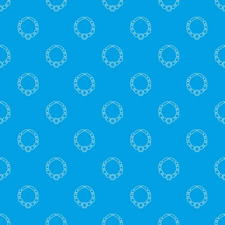 Pearl necklace pattern vector seamless blue repeat for any use
