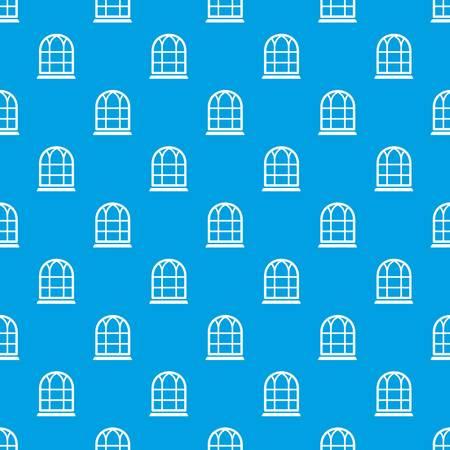 Big window frame pattern vector seamless blue