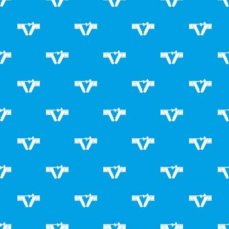 Bikini pattern vector seamless blue Stock Illustratie