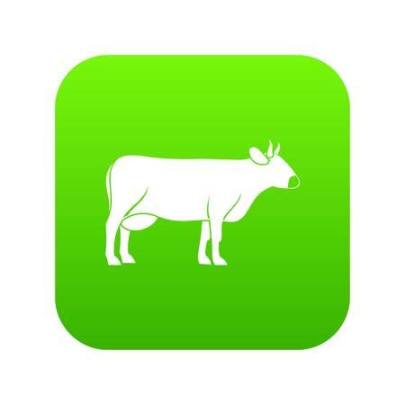 Cow icon digital green 스톡 콘텐츠 - 111026566