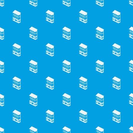 Balcony pattern vector seamless blue