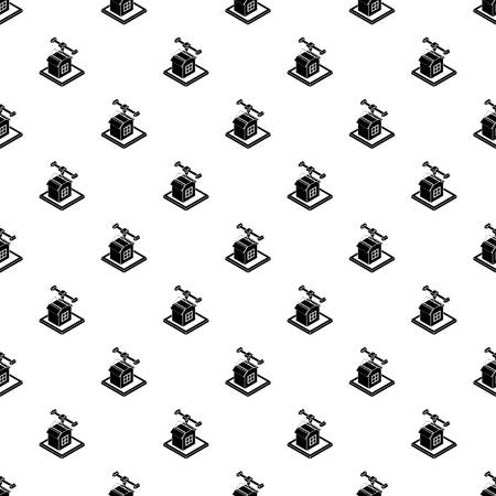 House d printing pattern vector seamless repeating for any web design