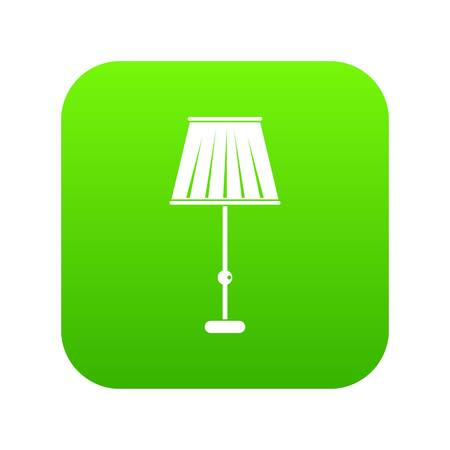 Floor lamp icon digital green Banque d'images - 111882176