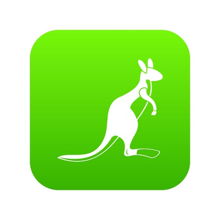 Kangaroo icon digital green
