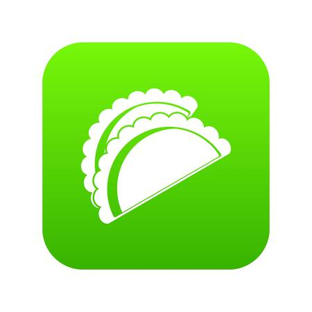 Empanadas de pollo icon digital green for any design isolated on white vector illustration