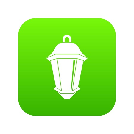Street light icon digital green