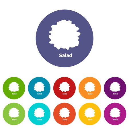 Salad icons color set vector for any web design on white background