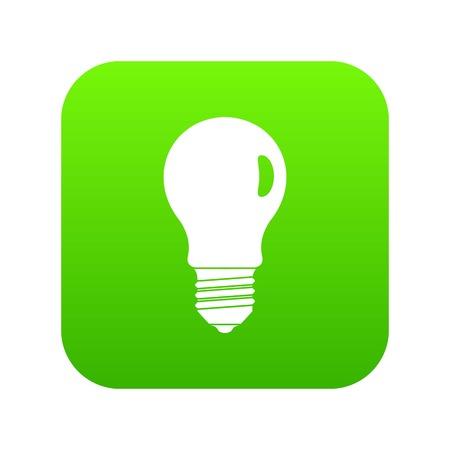 Lamp icon digital green Illustration