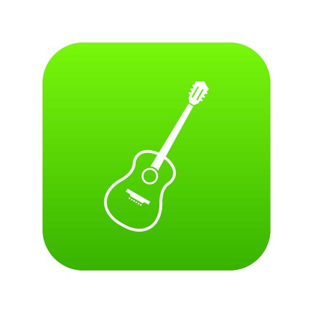 Charango icon digital green for any design isolated on white vector illustration