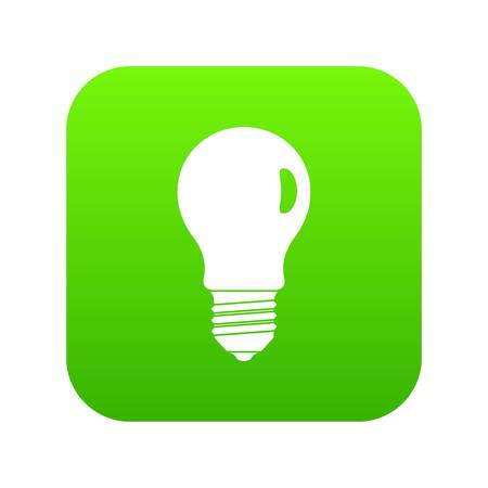 Lamp icon digital green for any design isolated on white vector illustration