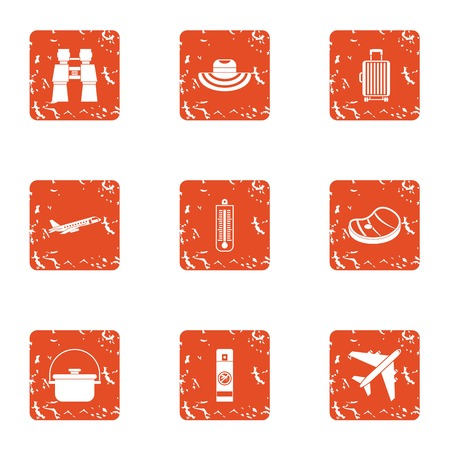 Prepare to rest icons set. Grunge set of 9 prepare to rest vector icons for web isolated on white background Иллюстрация
