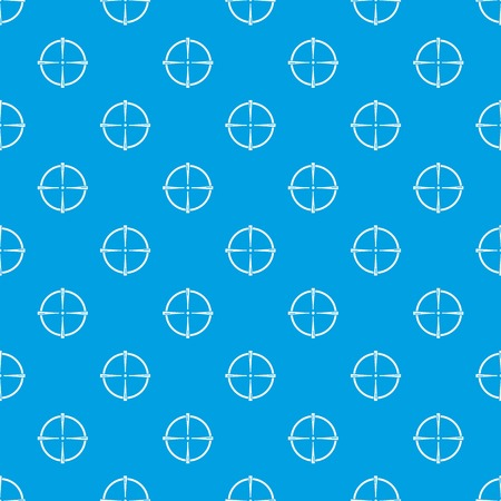 Paintball gun sight pattern vector seamless blue repeat for any use Illustration