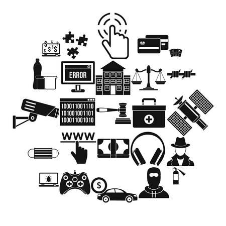 Software developer icons set. Simple set of 25 software developer vector icons for web isolated on white background
