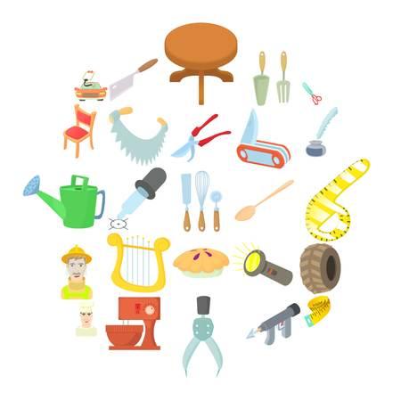 Voorman pictogrammen instellen. Cartoon set van 25 voorman vector iconen voor web geïsoleerd op een witte background Vector Illustratie