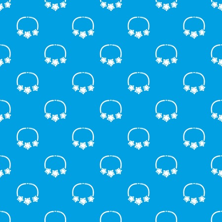 Necklace star pattern vector seamless blue repeat for any use