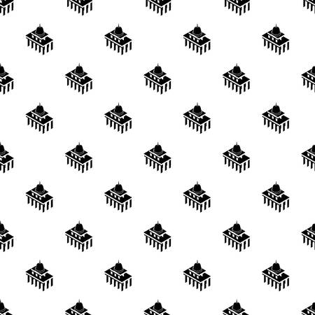 White house usa pattern vector seamless repeating for any web design