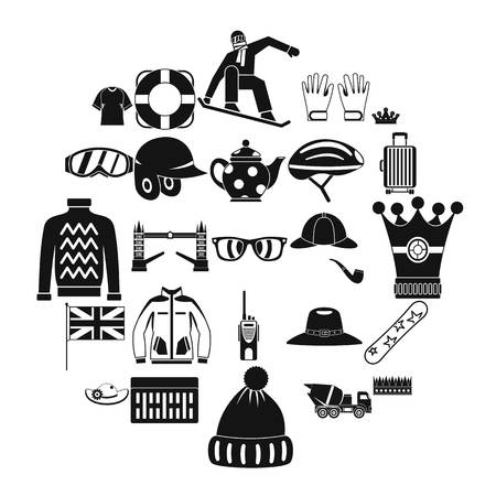 Headdress icons set. Simple set of 25 headdress vector icons for web isolated on white background Illustration