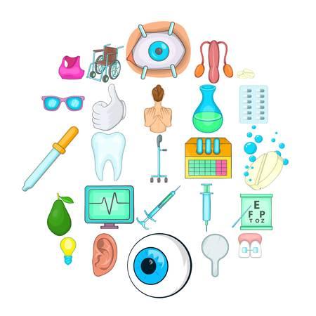 Traditional medicine icons set. Cartoon set of 25 traditional medicine vector icons for web isolated on white background Stock Illustratie