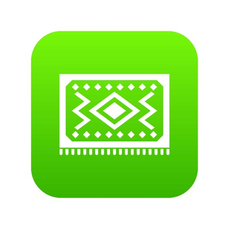 Turkish carpet icon digital green for any design isolated on white vector illustration