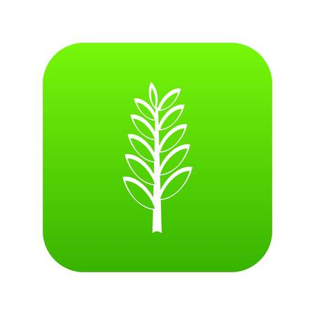 Spica icon digital green for any design isolated on white vector illustration Illustration