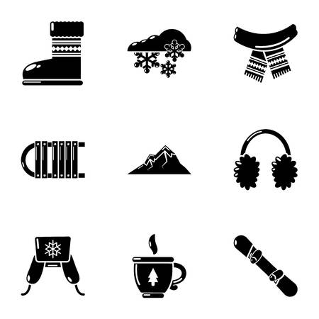Hosiery icons set. Simple set of 9 hosiery vector icons for web isolated on white background