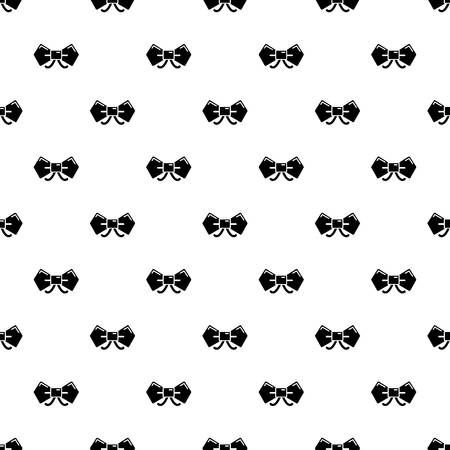 Bow tie hipster pattern vector seamless repeating for any web design