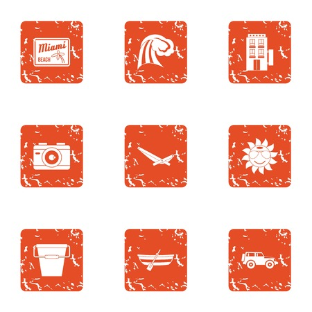 Vanquish icons set. Grunge set of 9 vanquish vector icons for web isolated on white background Иллюстрация