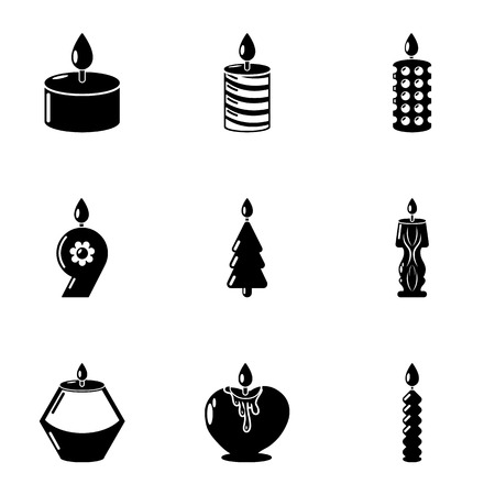 Aroma icons set. Simple set of 9 aroma vector icons for web isolated on white background