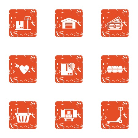 Love the premise icons set. Grunge set of 9 love the premise vector icons for web isolated on white background