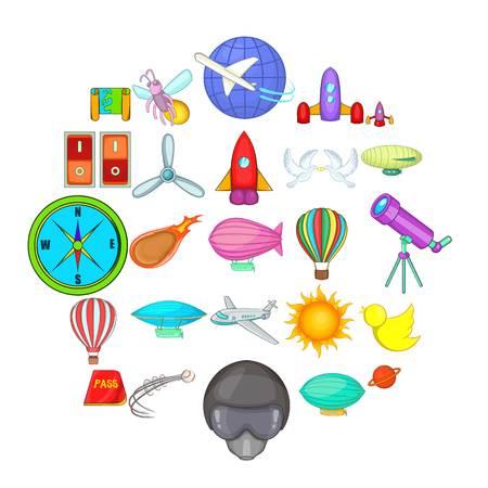 Navigation icons set. Cartoon set of 25 navigation vector icons for web isolated on white background Çizim