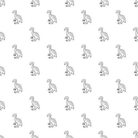 Young dinosaur pattern vector seamless