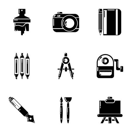 Brilliance icons set. Simple set of 9 brilliance vector icons for web isolated on white background
