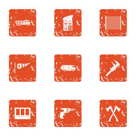 Repair weather icons set. Grunge set of 9 repair weather vector icons for web isolated on white background Foto de archivo - 130234511