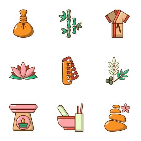 Improve skin icons set. Cartoon set of 9 improve skin vector icons for web isolated on white background
