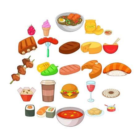 Hamburger icons set. Cartoon set of 25 hamburger vector icons for web isolated on white background Illustration