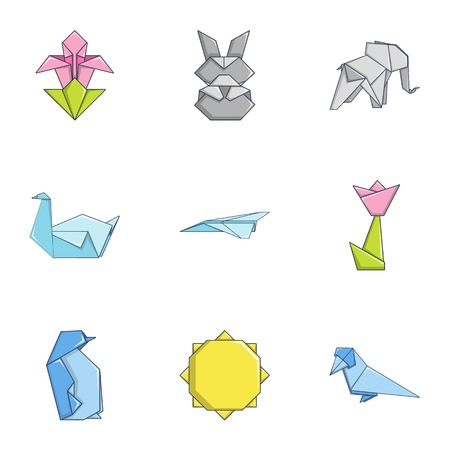 Contour icons set. Cartoon set of 9 contour vector icons for web isolated on white background