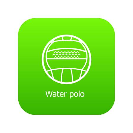 Water polo icon green vector isolated on white background Illustration
