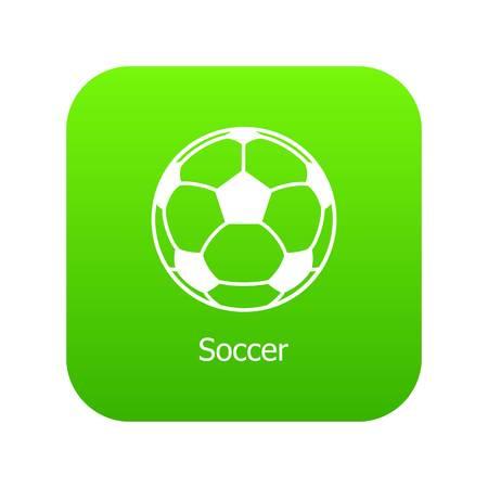 Soccer ball icon green vector
