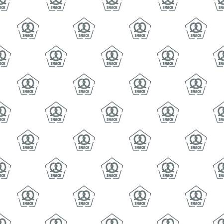 Snack pattern vector seamless